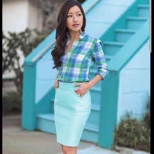 J. Crew Blue Pencil Skirt | Size 6